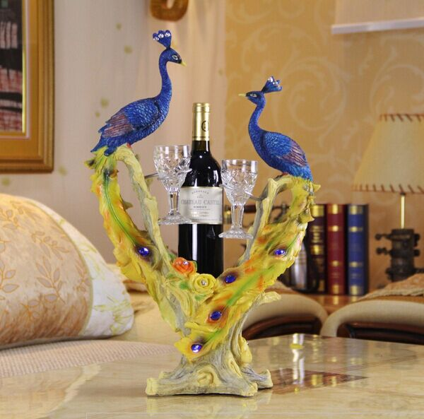 Peacock Wine Holder