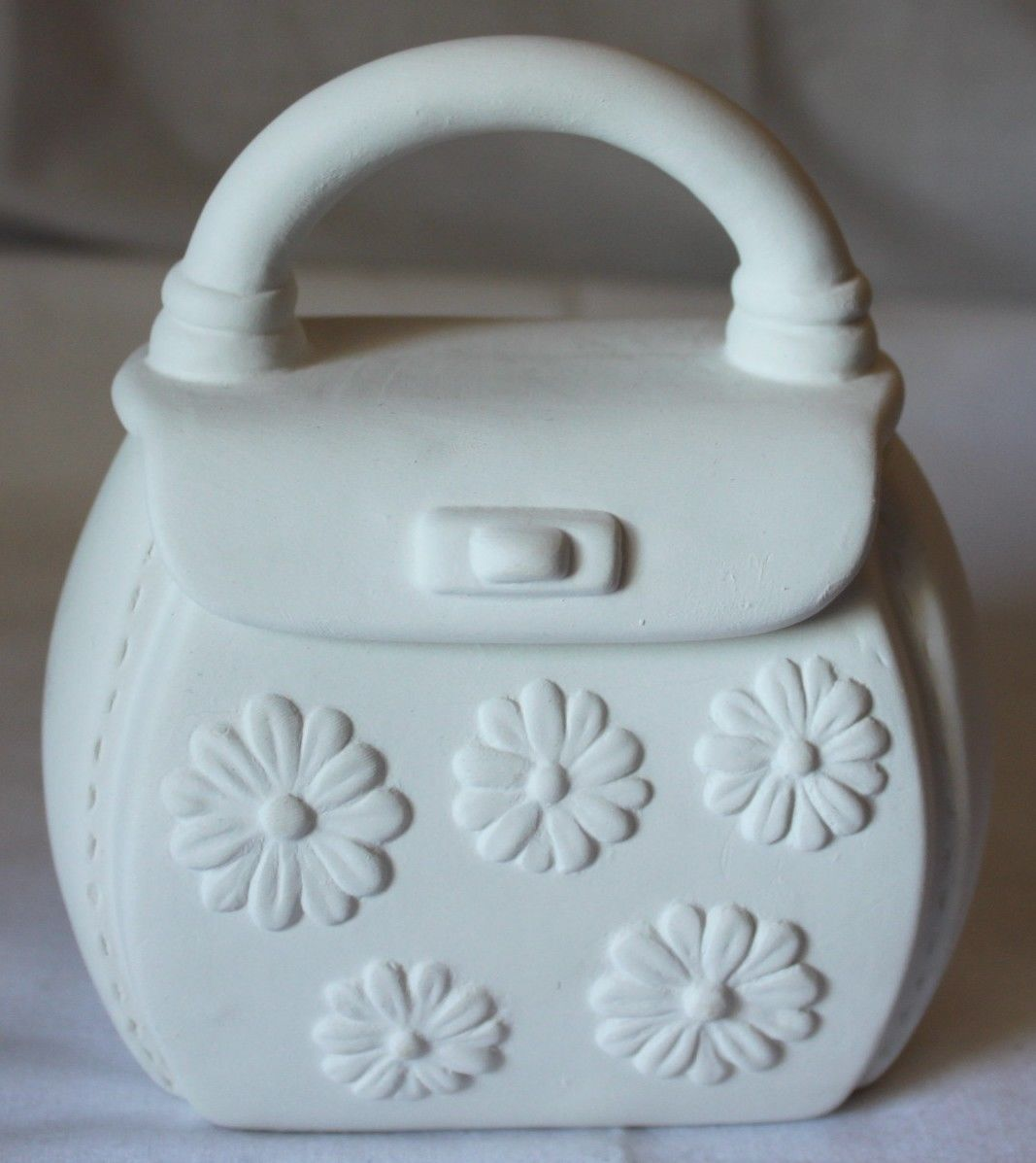 unpainted mini ceramic bisque purse