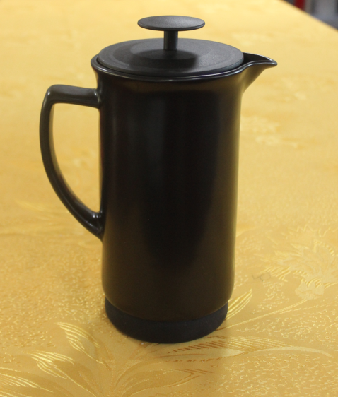 black ceramic coffee press