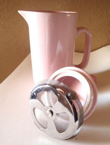 pink coffee press