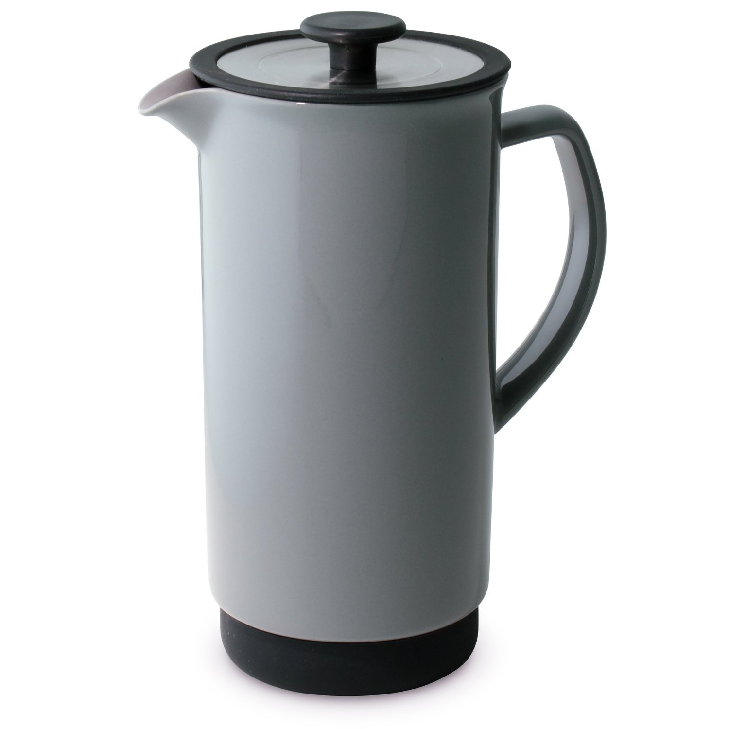 grey coffee press